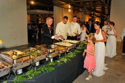 A self serve buffet allows guests to pick and choose. Self serve buffets always work well with large groups.